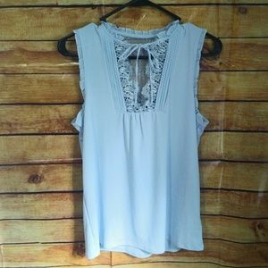 NWT Express Sleeveless Baby Blue Blouse